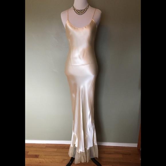 fcfea1f22d Vintage30s cream satin mermaid slip/dress! M_5aa40a4d5512fd32ee59c16e